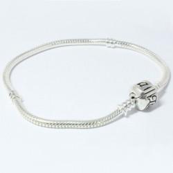 elemento armband compleet zwart/zilver 19 cm