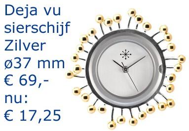 Deja vu sierschijf Zilver øca. 37 mm x 2 mm